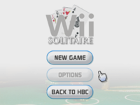 Wii Solitaire menu